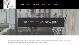Old Window Workshop Website